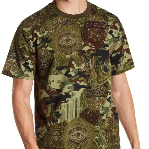 NWT GIVENCHY Paris Camo Money Printed T Shirt NWT